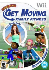 Обложка JumpStart: Get Moving Family Fitness Sports Edition featuring Brooke Burke