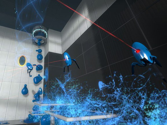 Portal 2. Геймплей. Знакомство с новыми элементами (русские субтитры)