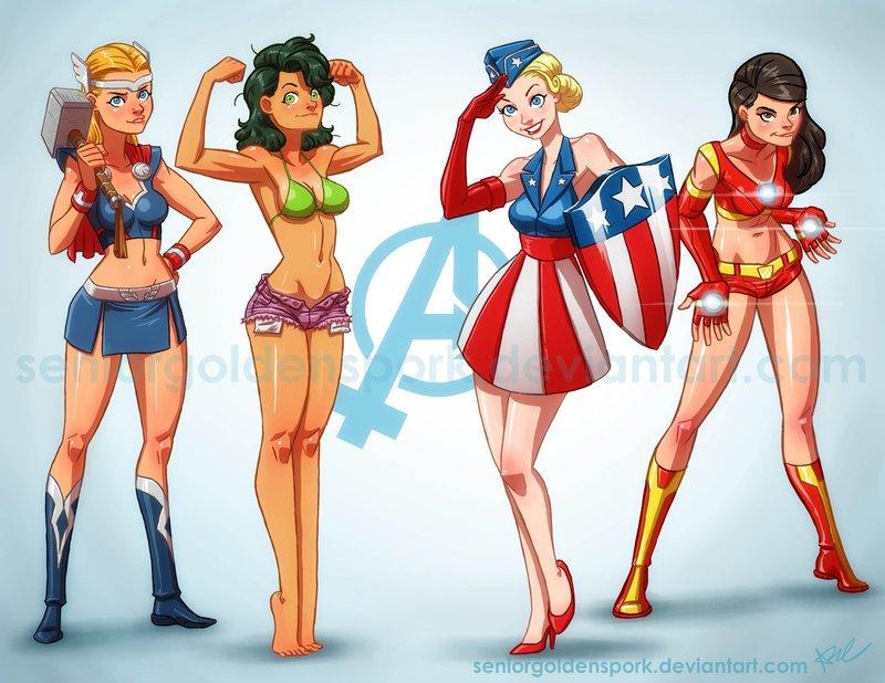 Галерея вариаций: Мстители-женщины, Мстители-дети... - Изображение 14