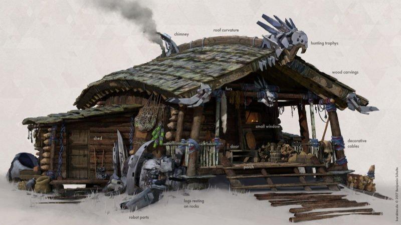 Прекрасные концепты Horizon: Zero Dawn отхудожников «Игры престолов» - Изображение 5