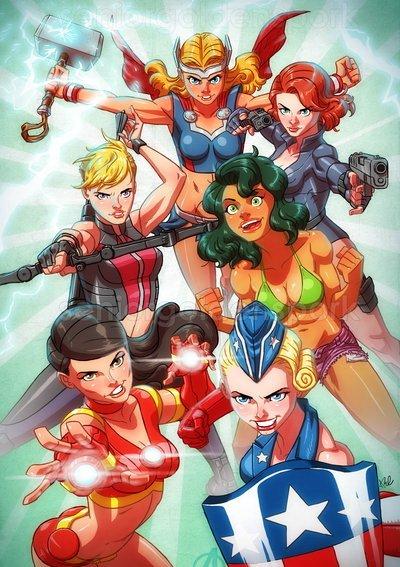 Галерея вариаций: Мстители-женщины, Мстители-дети... - Изображение 21
