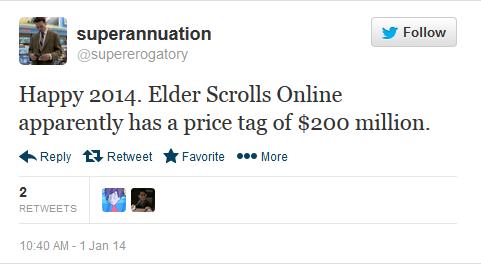 Разработка The Elder Scrolls Online обошлась в $200 млн . - Изображение 1