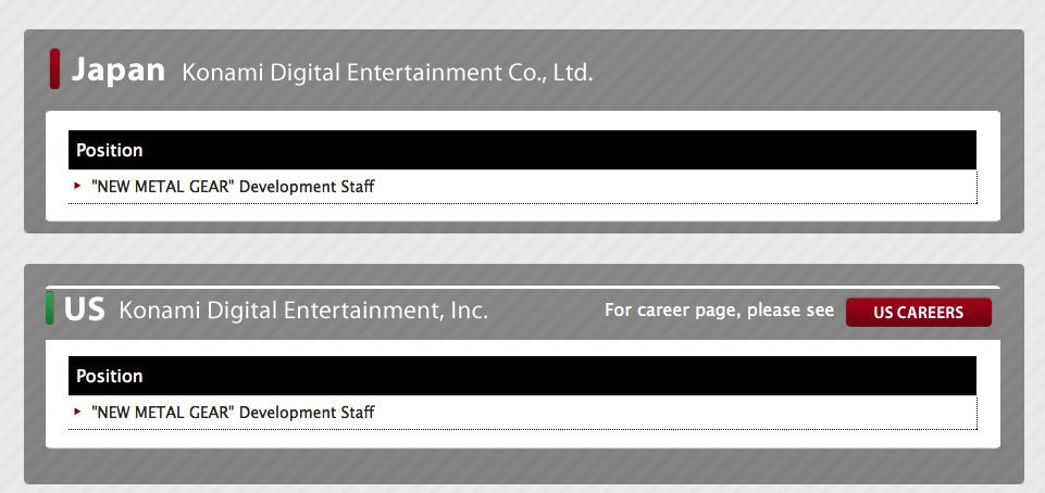 Назло всем: Konami ищет сотрудников для новой Metal Gear - Изображение 1