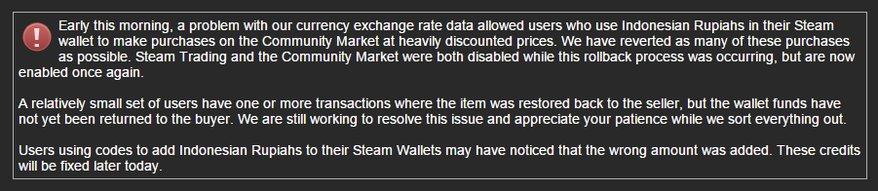 Внутриигровые товары в Steam временно обесценились в 13 тысяч раз - Изображение 1