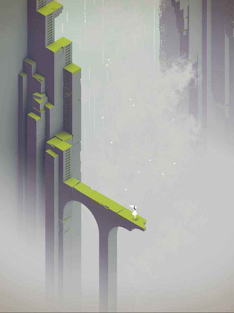Ида смотрит в небо на кадре из дополнения к Monument Valley - Изображение 2