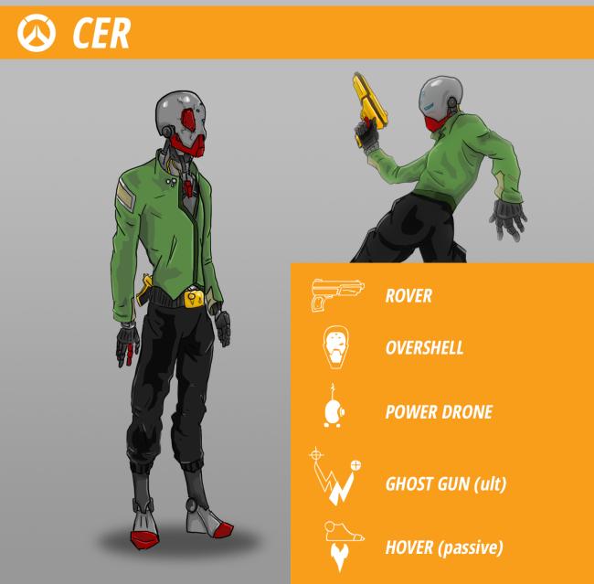 """Герой """"Цер"""" #OverwatchHeroContest. - Изображение 1"""