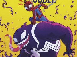 Человек-паук верхом наВеноме наальтернативных обложках кновому комиксу