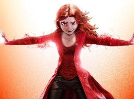 Когда Эльза стала Алой ведьмой: художник показал персонажей мультфильмов вобразах супергероев