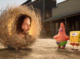 Киану Ривз появился втрейлере нового мультфильма про Спанч Боба. Ониграет перекати-поле!
