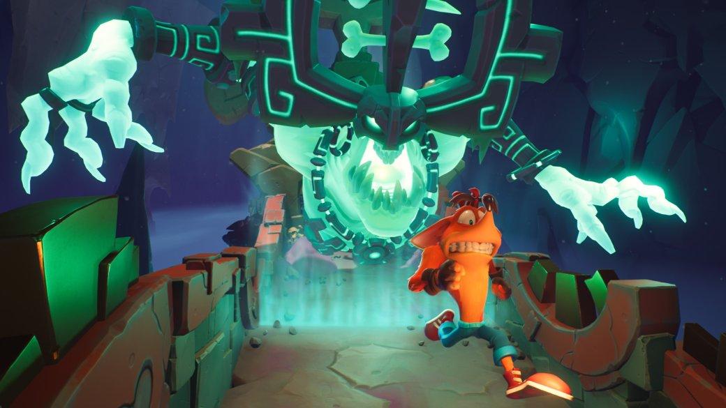 ПревьюCrash Bandicoot 4: It's About Time— динозавры, замедление времени и«рельсы»   Канобу - Изображение 7771