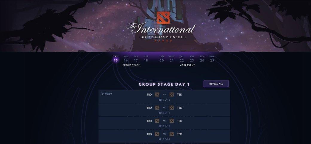 Стало известно время начала матчей The International 2019 по Dota 2 | Канобу - Изображение 0