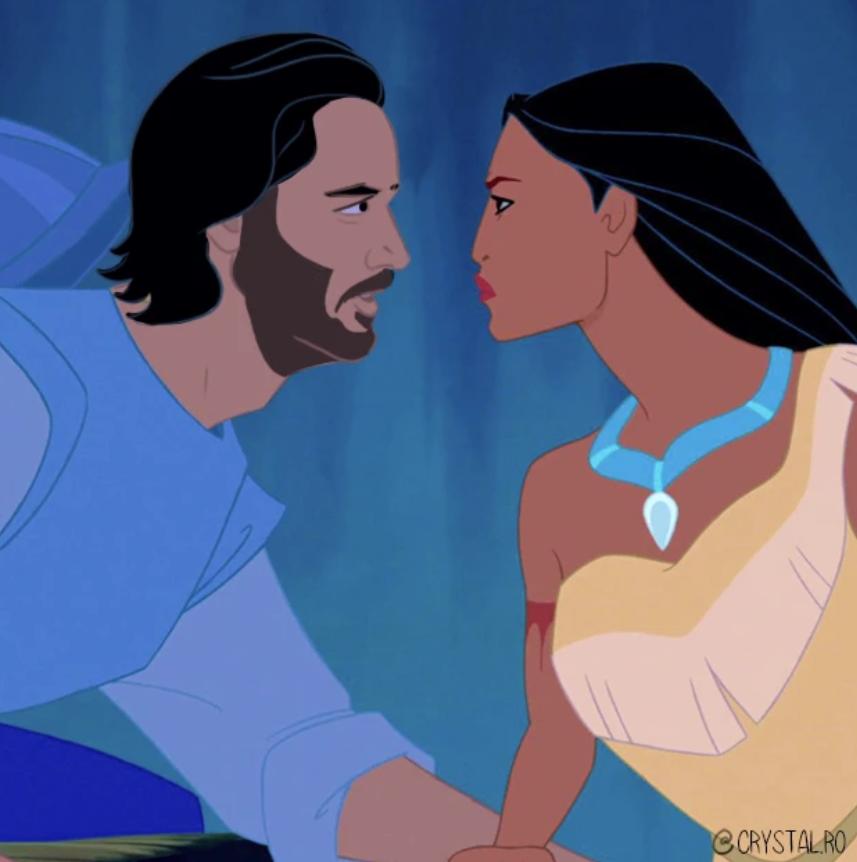 Киану Ривза нарисовали в образах Аладдина, Чудовища и других принцев из мультфильмов Disney  | Канобу - Изображение 6078