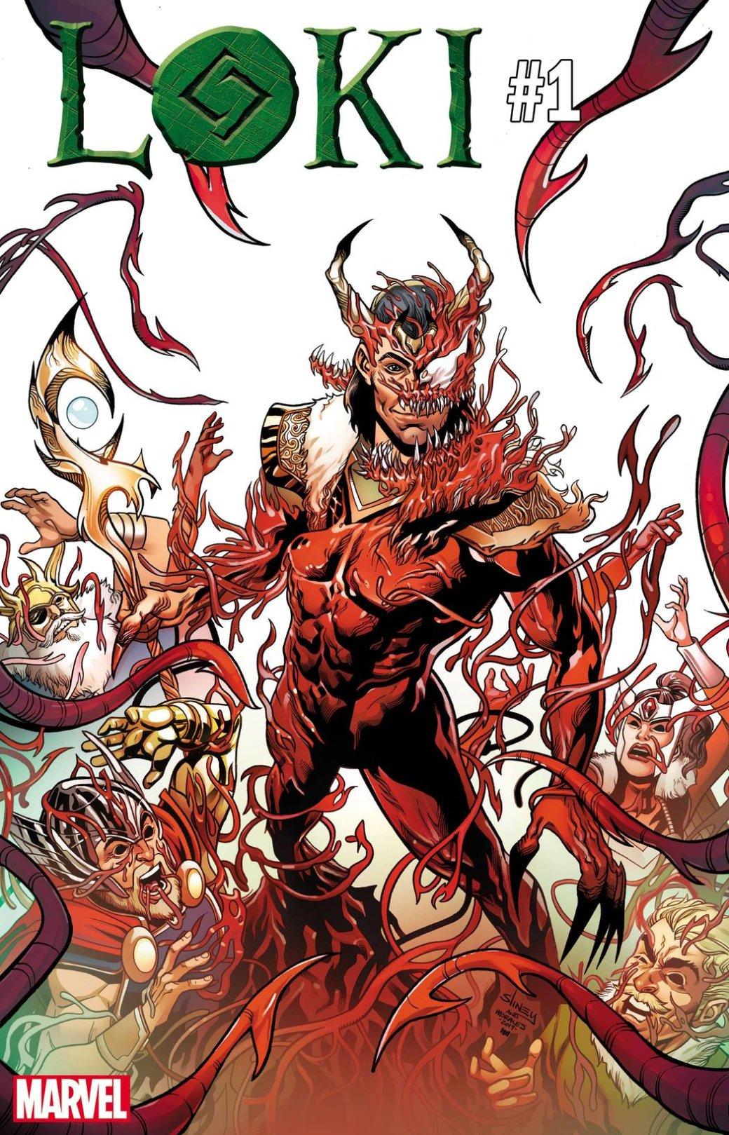 Какбы выглядели Капитан Марвел, Локи идругие герои, еслибы ихподчинил Карнаж? | Канобу - Изображение 9