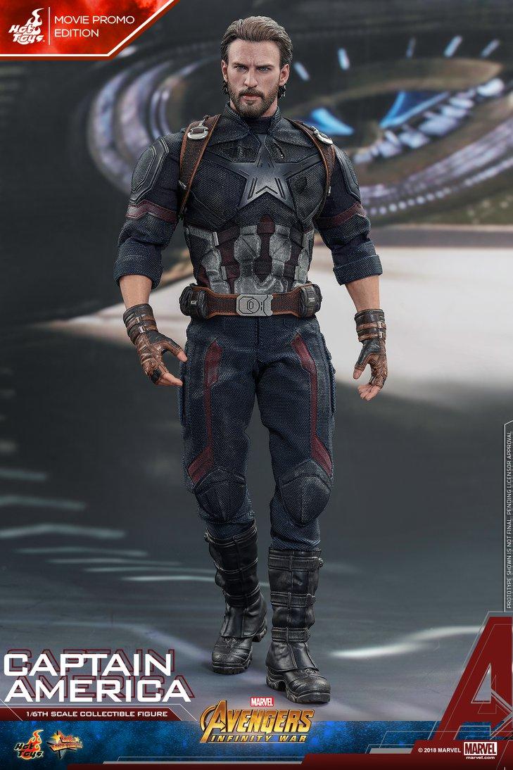 Взгляните нановую фигурку Капитана Америка из«Войны Бесконечности» отHot Toys. - Изображение 1