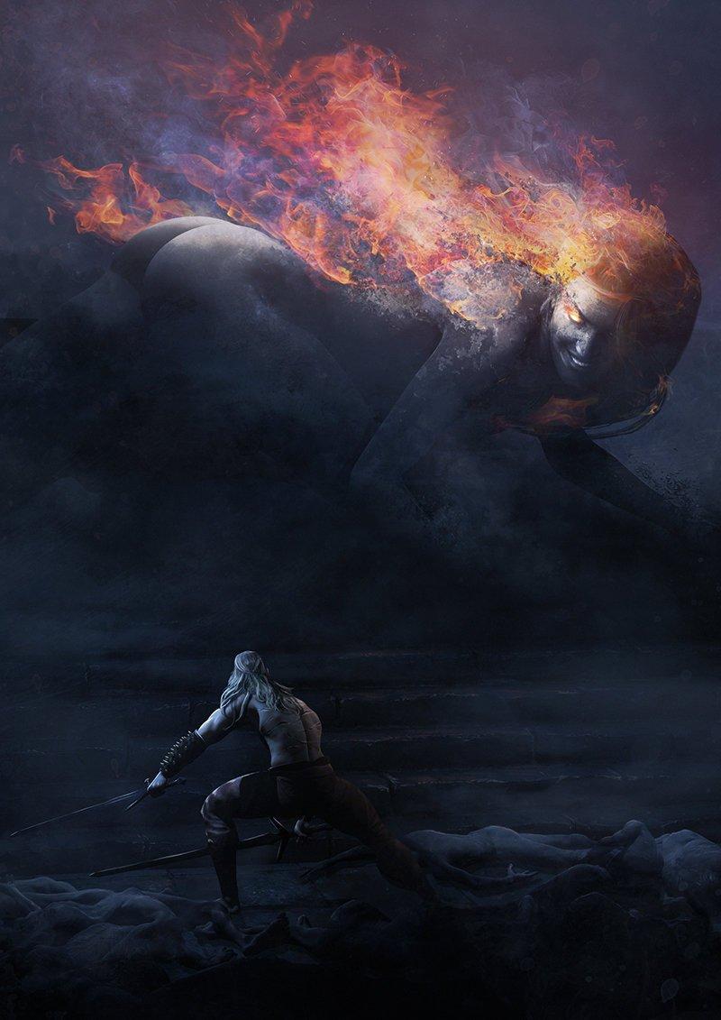 Галерея. Крутейший фанарт по«Ведьмаку», откоторого сразуже хочется перепройти трилогию игр | Канобу - Изображение 6284