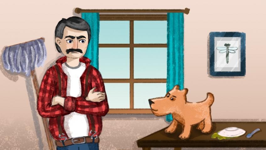 В этой мультиплеерной игре соревнуются гадящая собака и убирающий за ней хозяин. Кто победит?. - Изображение 1