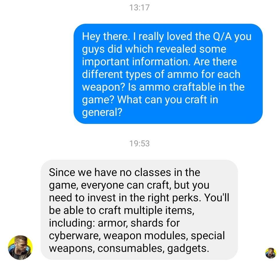 ВCyberpunk 2077 можно будет скрафтить хоть броню, хоть гаджеты